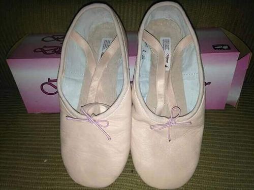 zapatillas de ballet en piel