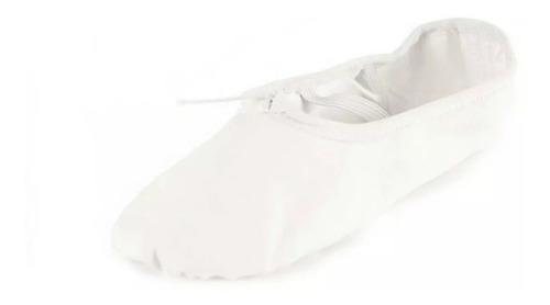 zapatillas de ballet piel media punta blanco o rosa