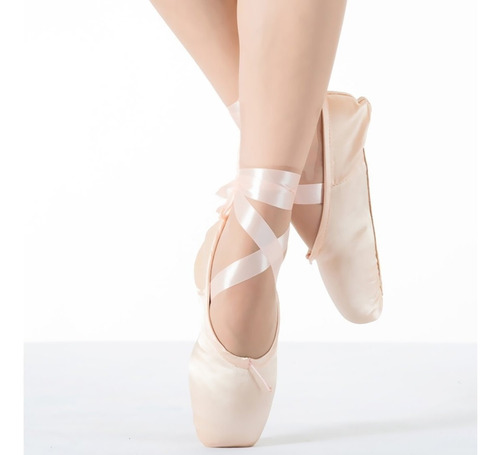 zapatillas de ballet puntilla t/31-42 + siliconas punteras