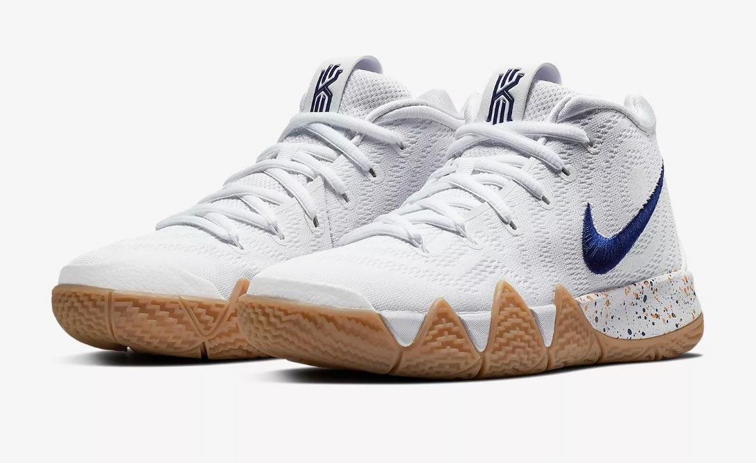 Zapatillas De Basquet Nike Kyrie 4 White Niño Mujer Original
