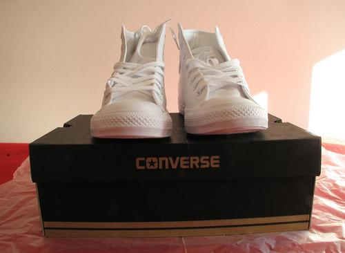 zapatillas de cuero blancas converse nuevas talla 42.5