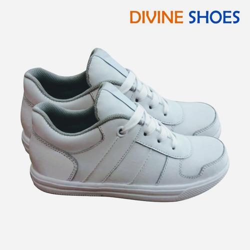 zapatillas de cuero escolar, oferta de zapatillas blancas