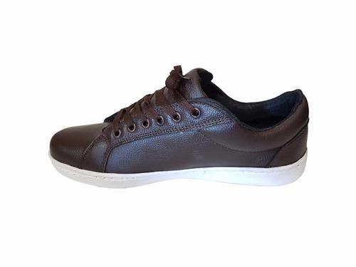 zapatillas de cuero hombre urbana cuero natural *fabrica*off
