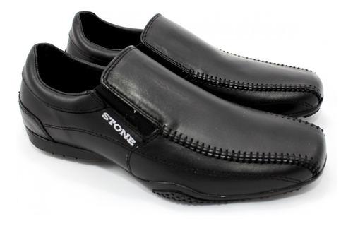zapatillas de cuero stone slack negro wales deportes