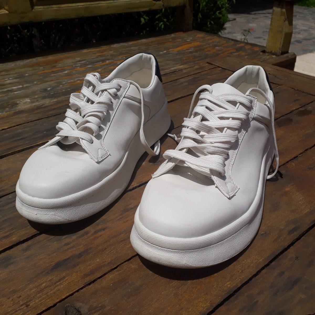 Zapatillas De Cuero Zara Hombre Original Talle 43 $ 3.300,00