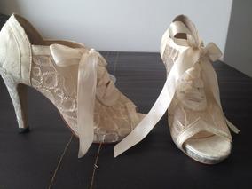 56e50f86 Zapatos De Encaje Para Novia - Ropa, Bolsas y Calzado en Mercado ...