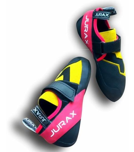 zapatillas de escalada jurax yana v1 amarillo/rojo