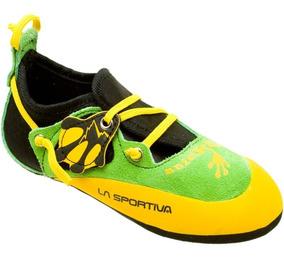 Zapatos de escalada Unisex ni/ños La Sportiva Solution White//Yellow