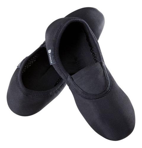 zapatillas de gimnasia artística de malla 500 negro domyos