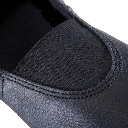 zapatillas de gimnasia artística de piel 520 negro domyos