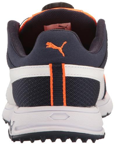 zapatillas de golf puma golf unisex-kids grip sport jr, peac