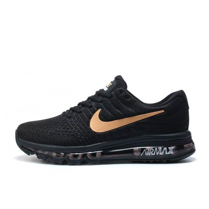Zapatillas De Hombre Nike Air Max 2017 Negra Dorado En Caja ... 109eecd4f34f0