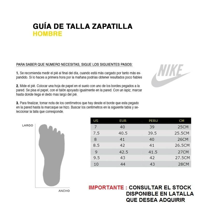 Tabla De Tallas Nike Zapatillas Hombre Off 62