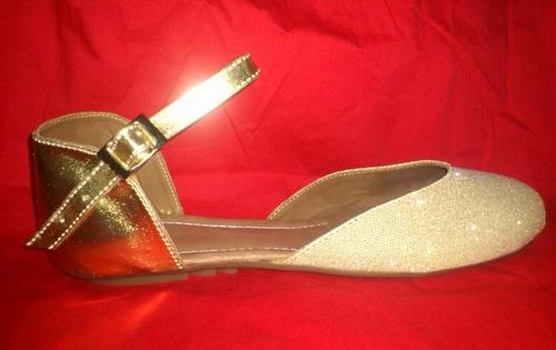 zapatillas  de la talla 35 a la 39 en dorado