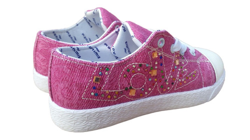 zapatillas de lona love para niñas por mayor y menor capital