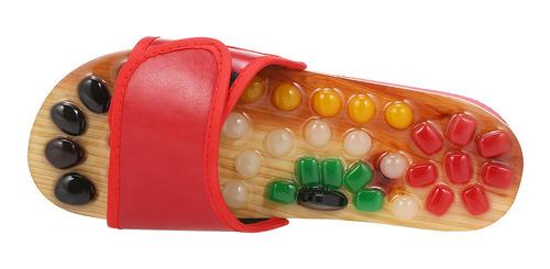 zapatillas de masaje acupoint natural pebble jade pie