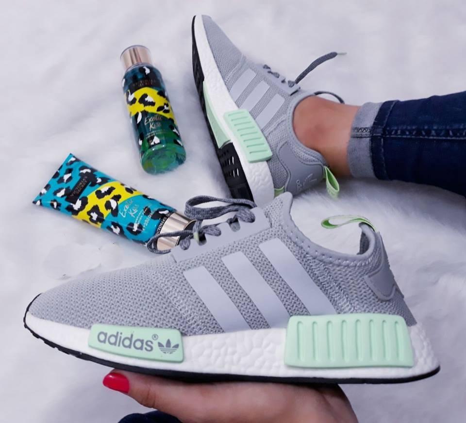 29dafb508 spain zapatillas de mujer adidas nmd runner 1 gris verde agua. cargando  zoom. 63c10