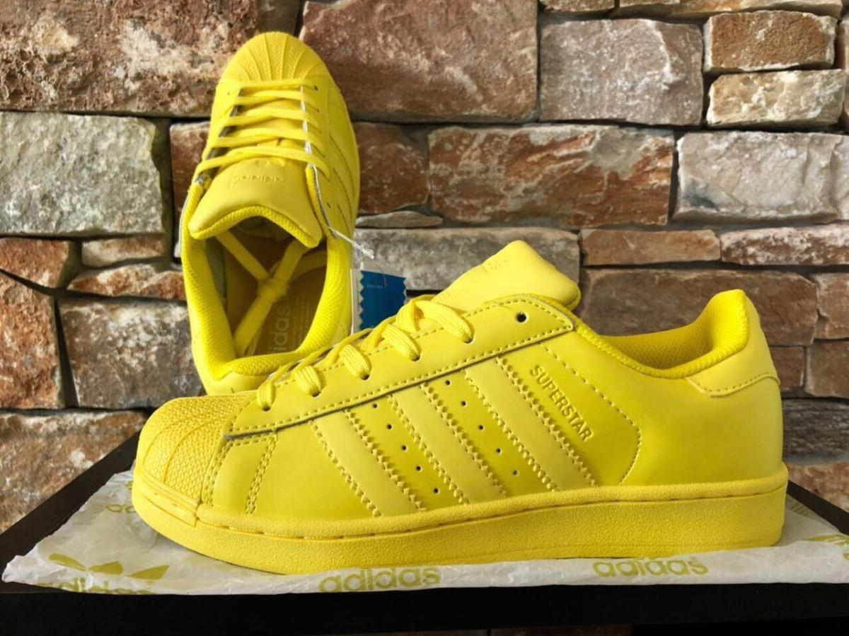 official photos fe653 43f73 zapatillas de mujer adidas superstar amarillas cuero en caja. Cargando zoom.