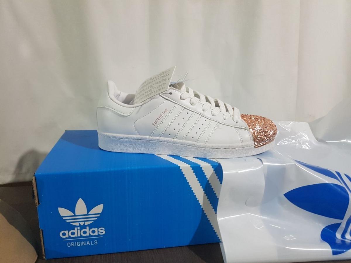 f4cf9aa3b9f zapatillas de mujer adidas superstar blancas punta dorada. Cargando zoom.