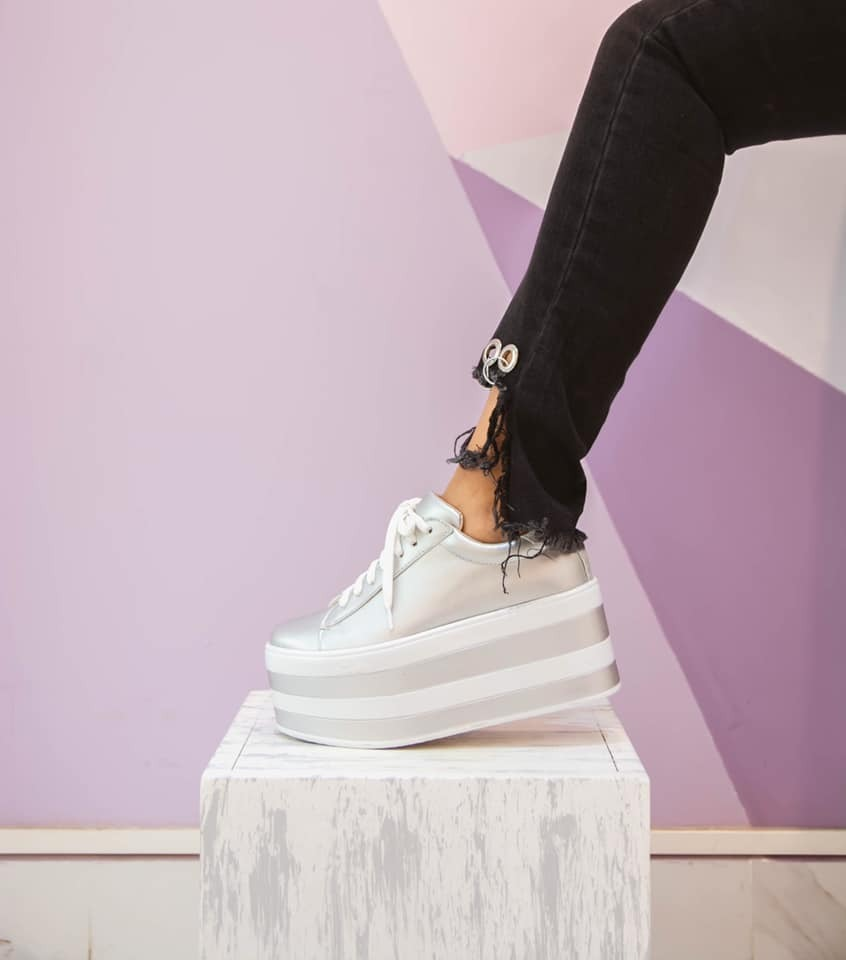 De tendencia Plata Color Zapatillas Mujer 2019 c5RjL4qS3A