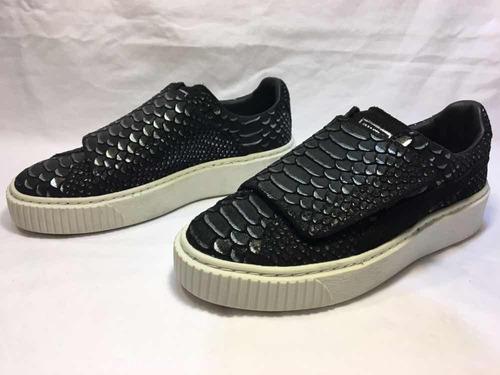 zapatillas de mujer puma platform strap black