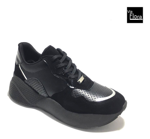 zapatillas de mujer savage mak 11 gamuza plataforma (ma11)