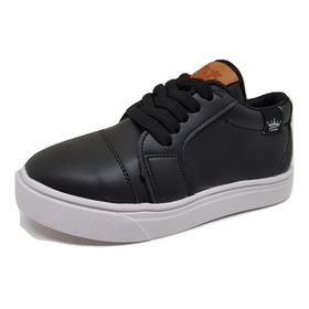 Zapatillas De Nene/niño Color Negro Talles 19 Al 34