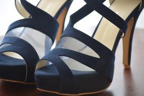 e3548dcc093 Zapatos De Novia Color Azul Rey - Zapatos Azul oscuro en Mercado ...