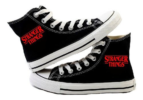 zapatillas de stranger things - logo / lho