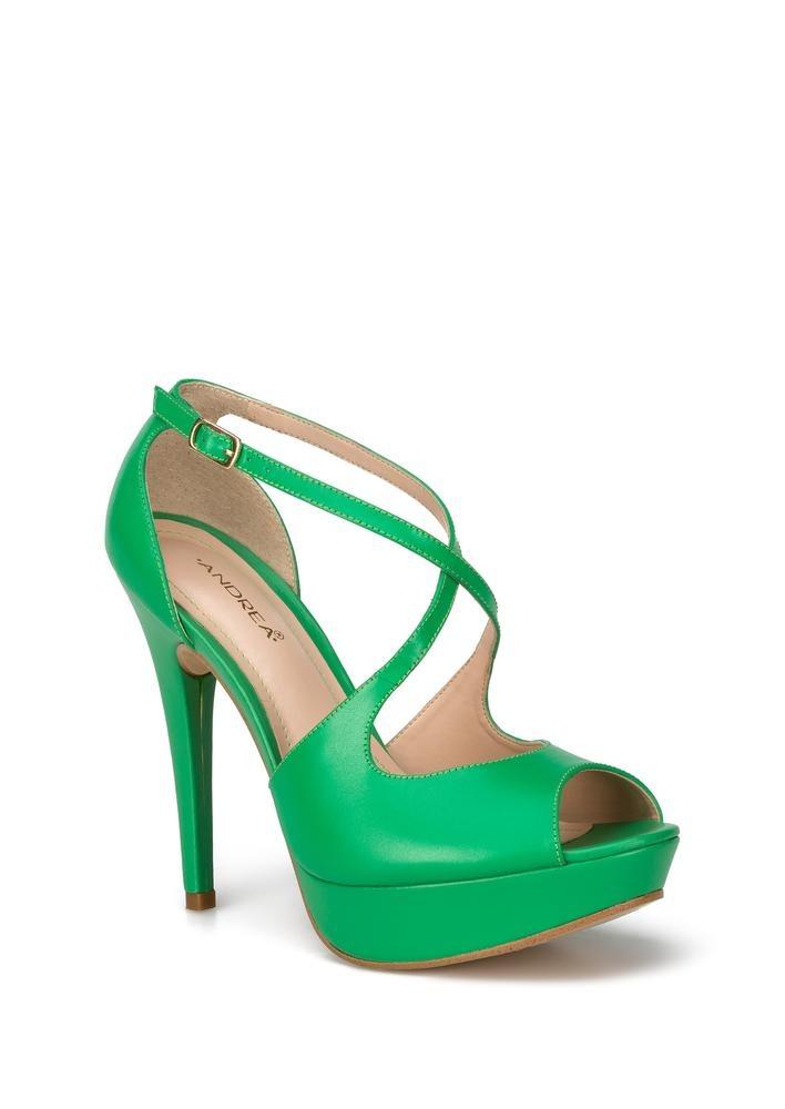 Zapatillas De Tacón Verdes Mujer Andrea 2430881 -   839.90 en ... 8eebd022f26fd
