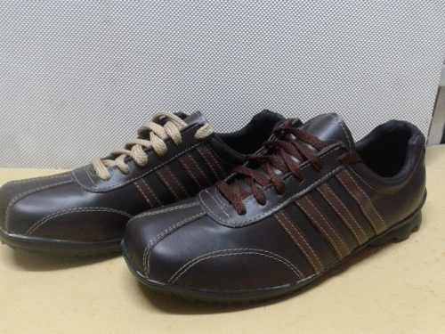 zapatillas de vestir 100% cuero legítimo con cordones