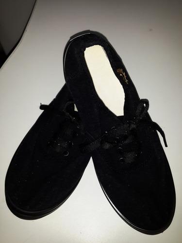 zapatillas deli negro nº39 - 25cm con cordones