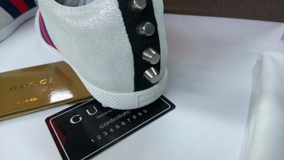 b7d294635 Zapatillas Deportiva Gucci Mujer Purpurina 35 % Dto. - $ 1.695.000 ...