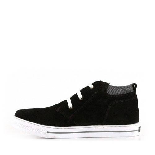 zapatillas descarne gamuzado negro minibatistella para niños