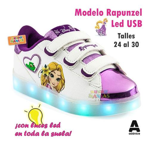 zapatillas disney rapunzel usb luces led addnice mundomanias