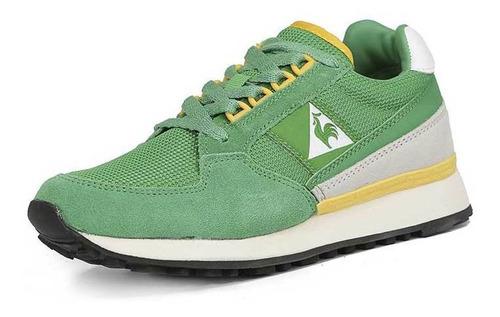 zapatillas eclat 89 bicolor verde unisex le coq sportif