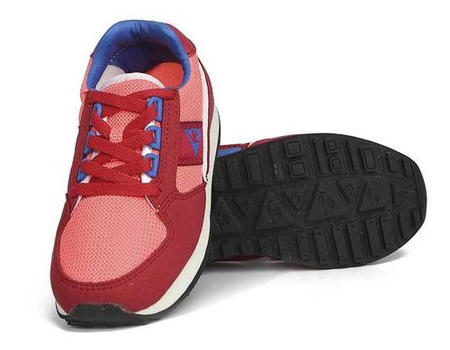 zapatillas eclat 89 mesh jr rojo kids le coq sportif