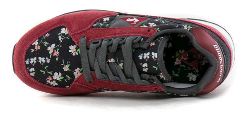 zapatillas eclat w print black blossom le coq sportif