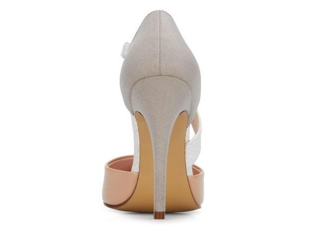 77254aeb Zapatillas Elegantes Andrea Rosas Con Gris Y Tacon Alto - $ 920.00 ...