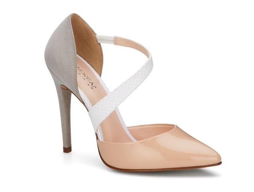 cf0526ba zapatillas elegantes andrea rosas con gris y tacon alto. Cargando zoom.