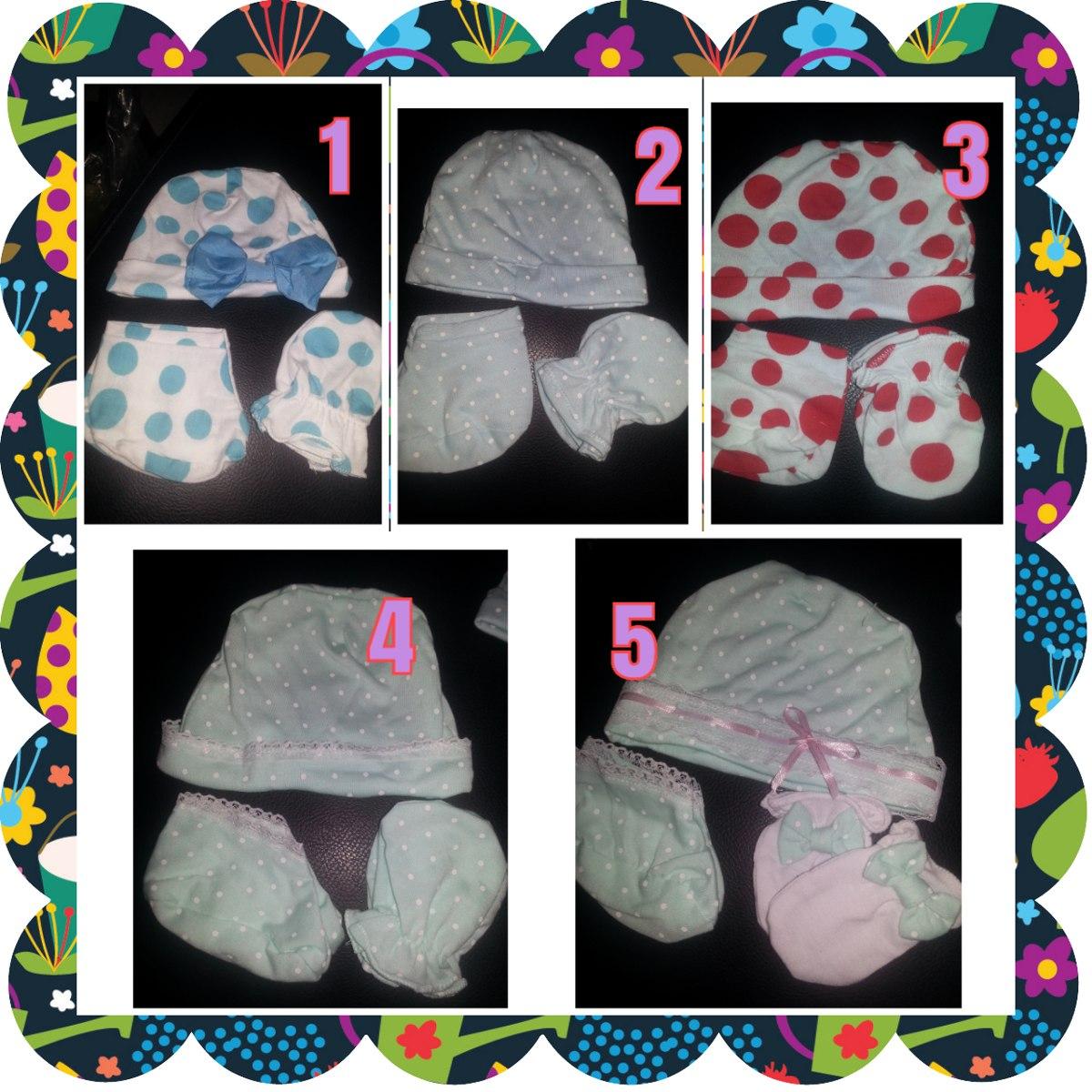 zapatillas en tela para bebe juego gorro+escarpines+manoplas. Cargando zoom. 52a65c829f4
