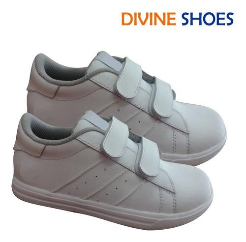 zapatillas escolares de cuero, zapatillas blancas de cuero