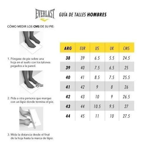 zapatillas everlast running gym casual hombre - olivos