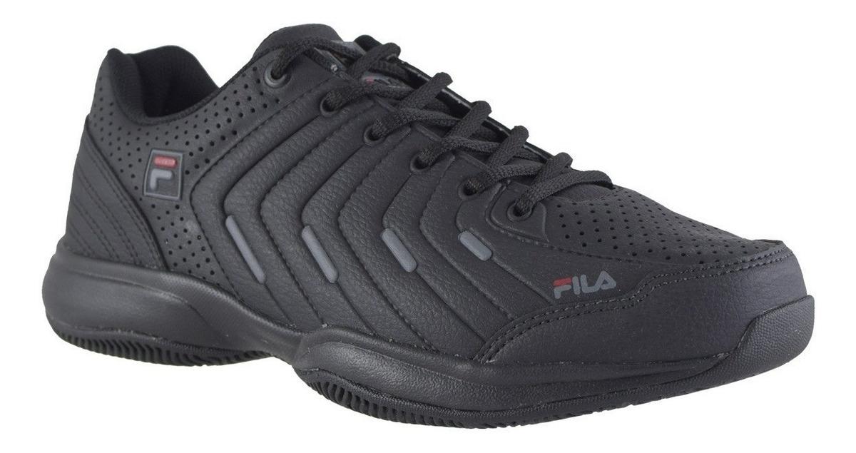 Zapatillas Fila De Tenis Lugano 5.0 Negras Para Hombre