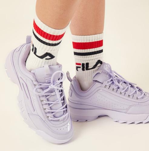 zapatillas fila disruptor 2 premium patent lilac originales