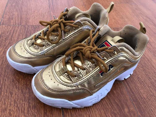 zapatillas fila disruptor ii 2 metallic