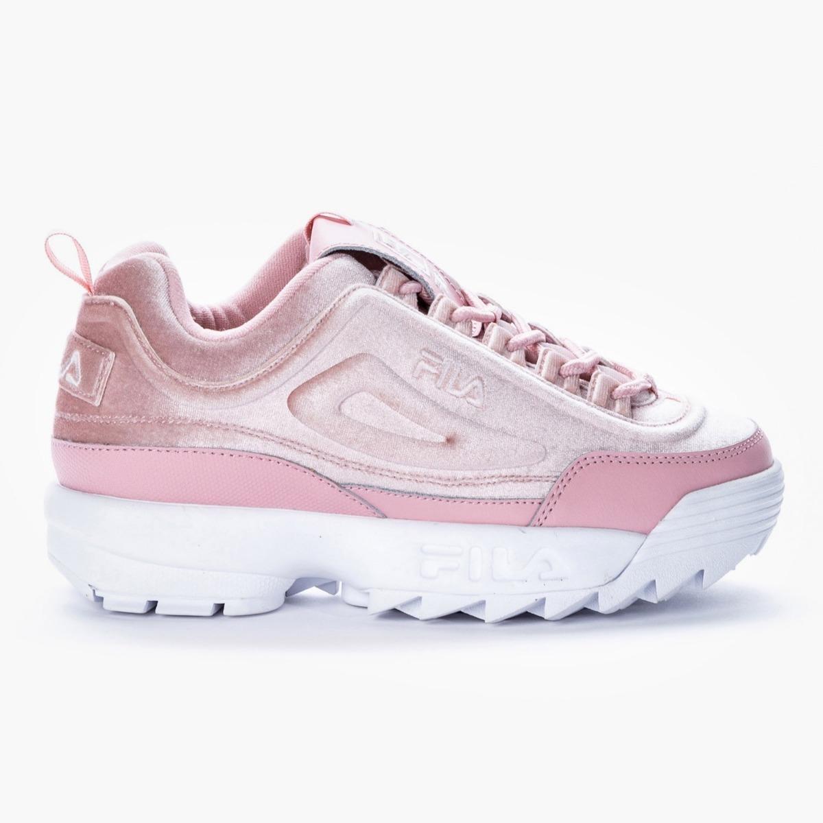 barato Zapatillas Fila Disruptor II Premium Mujer Rosa