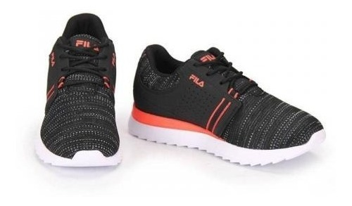 Zapatillas Fila Hombre Effect Lifestyle Running Color Negro