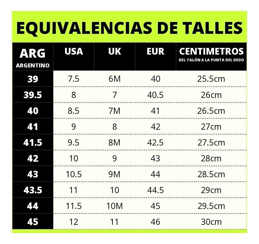 tabla tallas zapatillas salomon uruguay 09