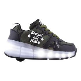 Zapatillas Footy Con Rueda Luz Led Usb Fty Calzados